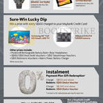 Charge N Redeem, Sure-Win Lucky Dip, Instalment Payment Plan Gift Redemption