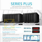 Synology NAS DiskStation DS1813 Plus, DS1513 Plus
