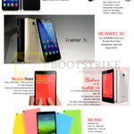 NewStar (No Prices) Lenovo A850 Plus, Xiaomi Mi3, Huawei 3C, Redmi Note, Redmi 1S, MI Pad