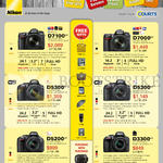 Digital Cameras DSLR D7100, D7000, D5300, D5200, D3300