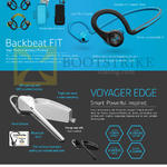 Bluetooth Headphones Backbeat Fit, Voyager Edge