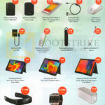 Accessories Battery Pack, Dongle, Charger Kit, Mouse, Stylus, Headset, LAN Hub, Book Cover, Gear Fit, Bluetooth Speaker