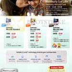 MicroSD Standard, Evo, Pro 16GB, 32GB, 64GB Cards