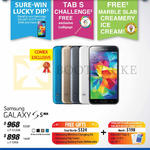 Sure-Win Lucky Dip, Tab S Challenger, Free Ice Cream, Galaxy S5