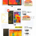 Tablets Galaxy Note Pro 12.2, Galaxy Tab 4 7.0, Galaxy Note 10.1 2014 Edition