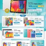 Tablets Galaxy Note Pro 12.2, Tab S 8.4, Tab S 10.5, Note 10.1 2014 Edition, Tab 3 Lite 7.0, Tab 4 7.0, Tab 4 8.0, Galaxy S5