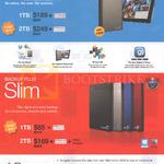 External Storage Wireless Plus Mobile Device Storage, Backup Plus Slim 1TB, 2TB