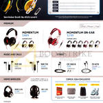 Headphones, Earphones Momentum, Momentum-On-Ear, MM30i, MM70i, CX 300 II, CX870, HDR-170, RS 170