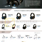 Headphones, Earphones, HD6 Mix, HD7 Mix, HD8 DJ, HD218i, HD228, HD419, HD449, CX685, MX685, OCX685i, PMX685i, PX685i