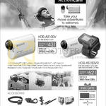 Camcorder HDR-AS100V HD Action Cam, Universal Headband Kit, Handle Bar Mount, Roll Bar Mount, Underwater Housing