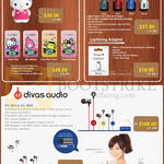 The Perpetuity Sanrio Power Banks, USB Car Charger, Lightning Adapter, Divas Audio Earphone DV-2013 2093