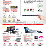 Notebooks Portege Z30, Z10t, Satellite U920t, Excite AT10 Tablet