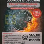 300Mbps 500Mbps Broadband, Fibernet Bundle