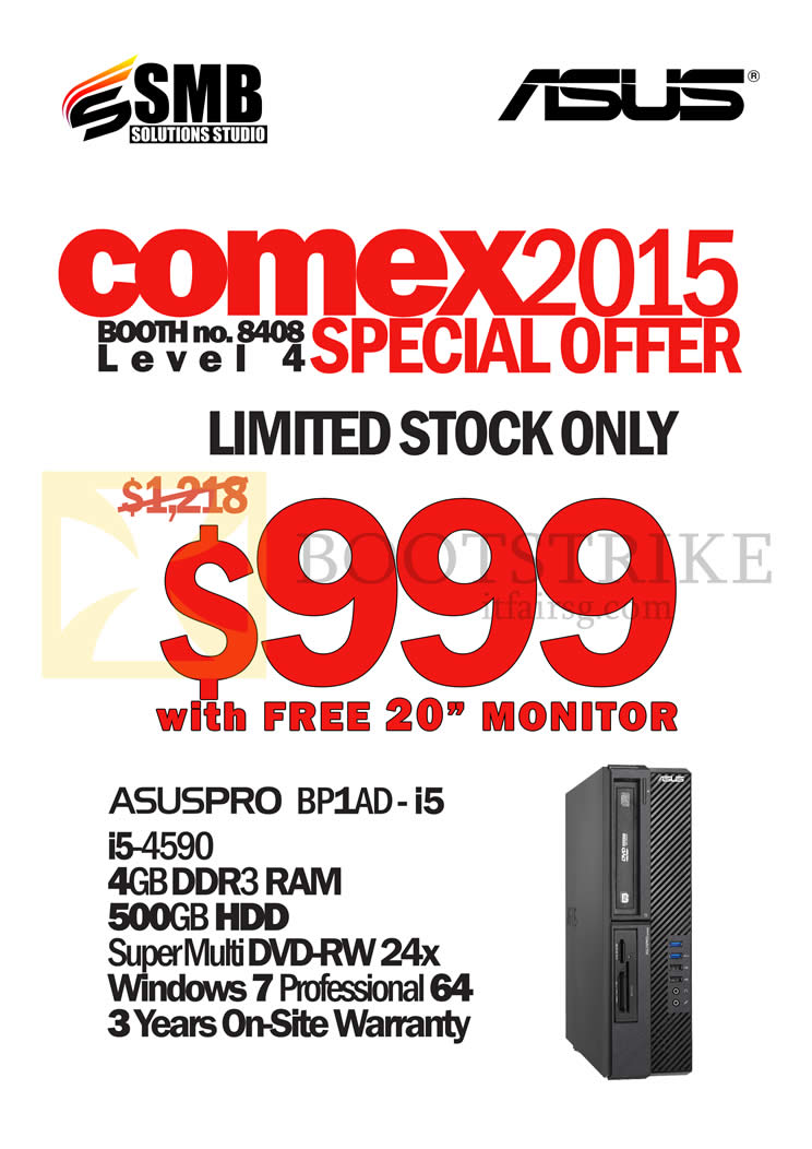 COMEX 2015 price list image brochure of ASUS (SMB Solutions) Asuspro Desktop PC BP1AD-i5