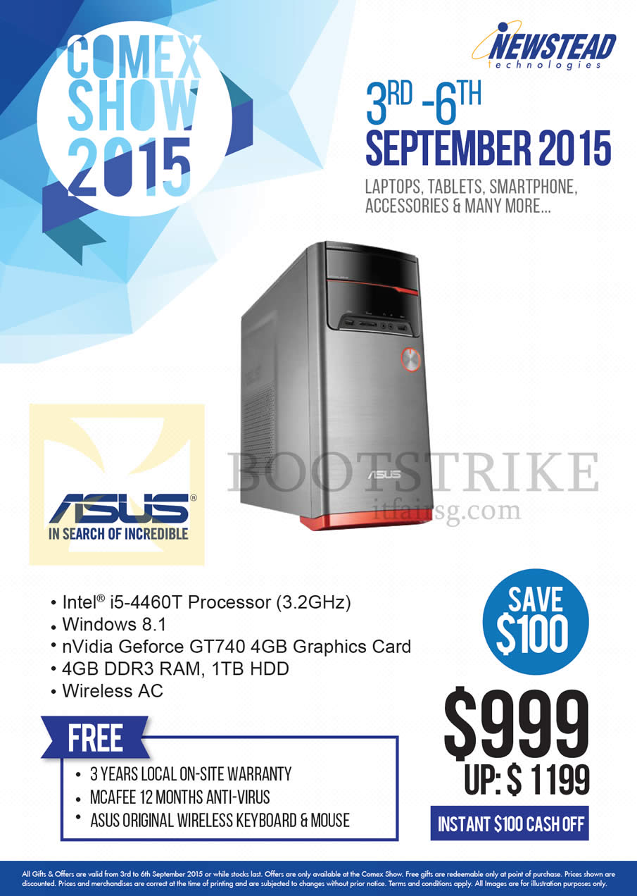COMEX 2015 price list image brochure of ASUS Newstead Desktop PC