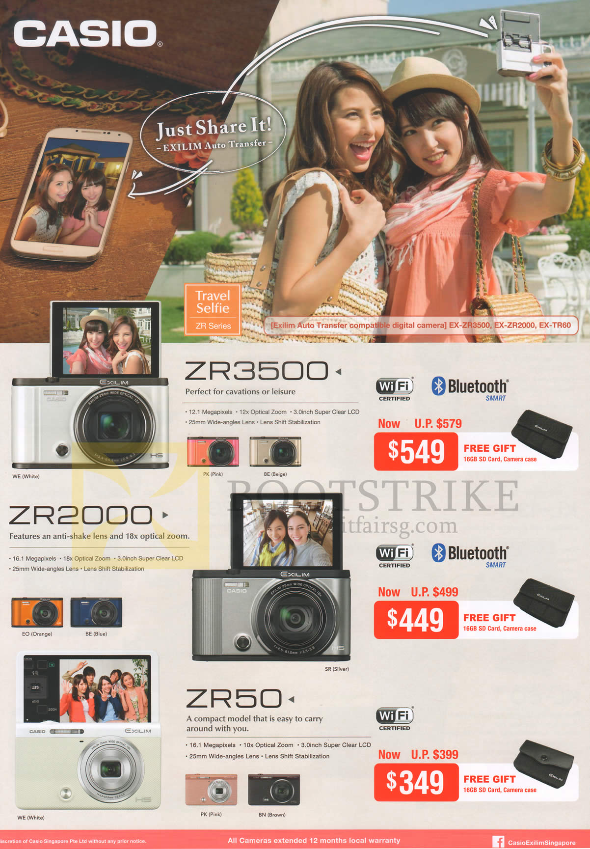 Casio Digital Cameras ZR3500, ZR2000, ZR50