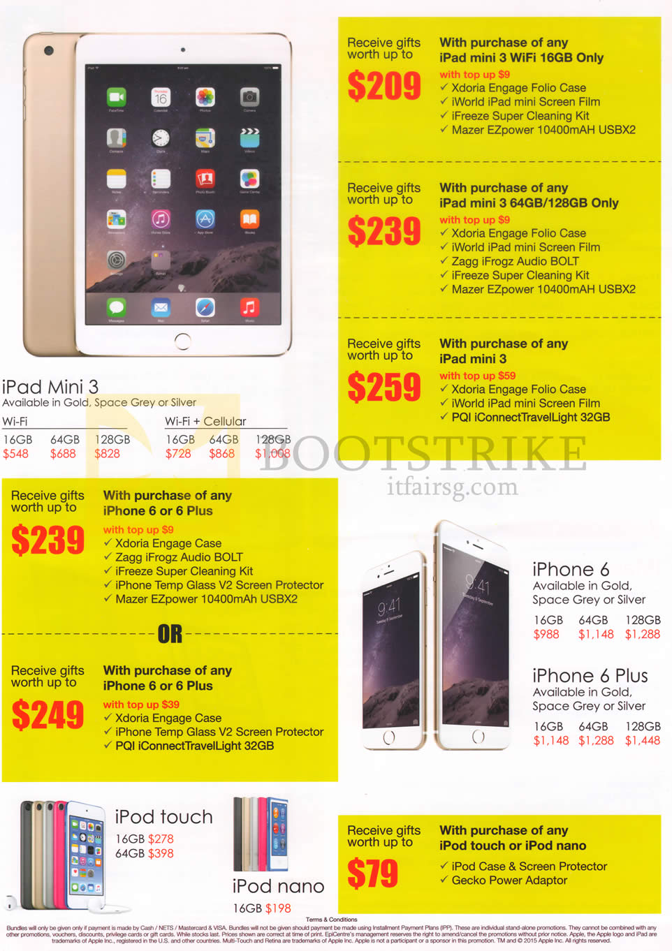 Epicentre Apple Ipad Mini 3 Iphone 6 Plus Ipod Touch 64gb Gold Comex 2015 Price List Image Brochure Of