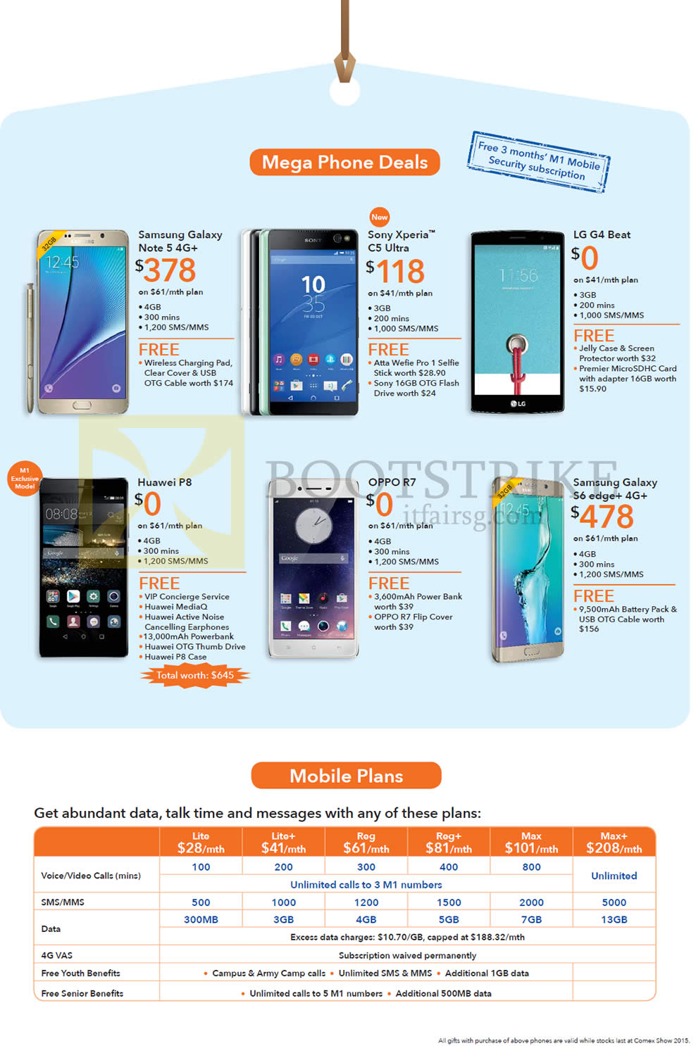 samsung galaxy s6 edge price list. comex 2015 price list image brochure of m1 mobile, samsung galaxy note 5, sony. « s6 edge s