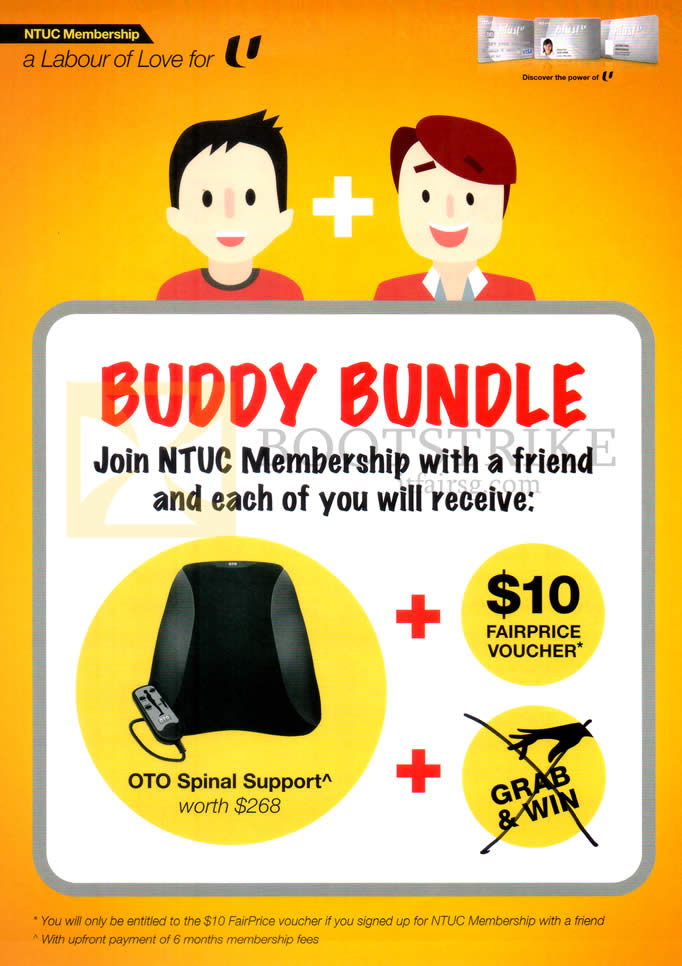 COMEX 2015 price list image brochure of NTUC Membership Buddy Bundle Free OTO Spinal Support
