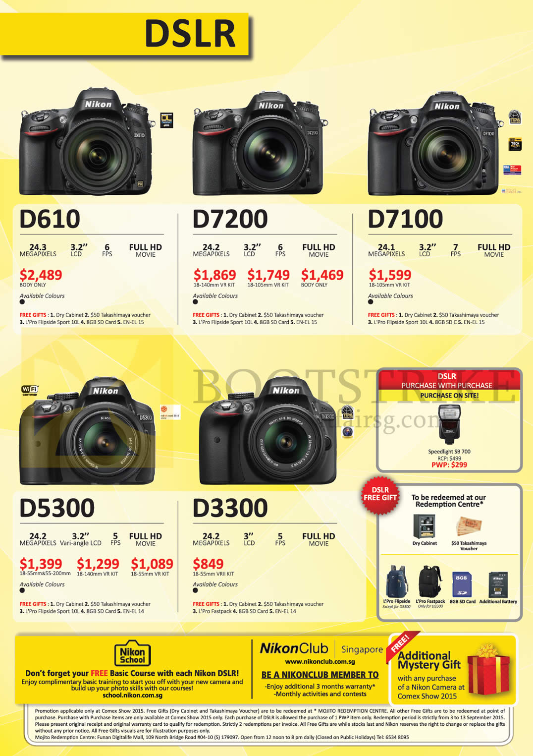 Comex Show 2015 Price List Flyer Camera Prices In