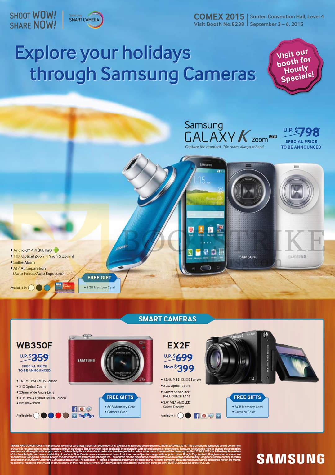 Samsung Digital Cameras, WB350F, EX2F