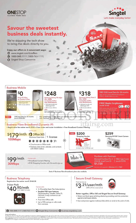 Singtel Business Mobile Phones, Business Fibre Broadband
