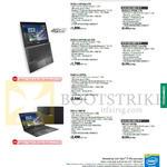 Notebooks ASUSPro Enterprise BU201LA-DT026G, DT029G, 054G, 032G, BU401LA-CZ070G, B551LG-CN075G, CN076G