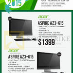 Newstead AIO Desktop PC Aspire AZ3-615