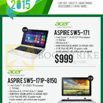 Newstead Notebooks AIO Desktop PC, Aspire SW5-171, SW5-171P-815Q