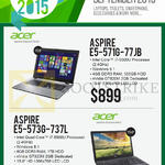 Newstead Notebooks Aspire E5-571G-77JB, E5-573G-737L