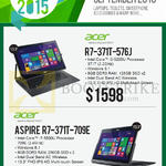 Newstead Notebooks R7-371T-576J, Aspire R7-371T-709E