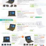 Notebooks Aspire R14 R3-471TG, SW5-173 11V, ES1-331 ES13, R11 R3-131T, Switch SW3-013 10E