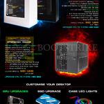 Desktop PCs, GPU Upgrades, SSD Upgrade, Case LED Lights, Hypergate, Tremor