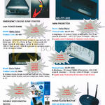 Emergency Engine AD-A07, EL-384A Jump Starter, AD-FP-345, AD-FP-360C Projector, ADDS-100 Paper, AD-CL2 Router