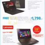 Notebook GL552JX-CN086H, Lenovo Y50-70