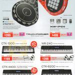 DJ Controllers XW-DJI, XW-PDI, Electric Music Keyboards CTK-1300, WK-240, CTK-4400, CTK-6200