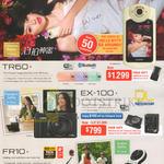 Digital Cameras TR60, EX-100, FR10