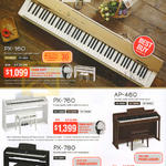Keyboards Music Pianos PX-160, PX-760, AP-460, PX-780