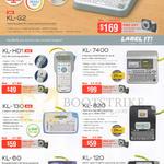 Label Printers Label It KL-G2, KL-HD1, KL-7400, KL-130, KL-820, KL-60, KL-120