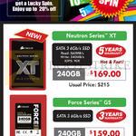 Corsair SSD Neutron Series XT, Force Series GS, 240GB