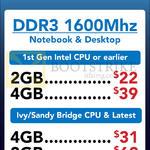 Crucial DDR3 RAM 2GB 4GB 8GB