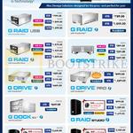 G-Technology G RAID USB, G Drive, Pro, Studio, Studio XL, Speed