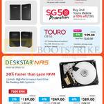 HGST External Drives Touro Mobile, Desk, Deskstar NAS, 1TB, 3TB, 4TB, 6TB