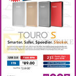 HGST External Storage Drive Touro S 1TB