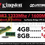 Kingston RAM DDR3 1333Mhz, 1600Mhz