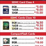 Kingston SDHC, Compact Flash CF Cards, 4GB, 8GB, 16GB, 32GB