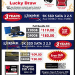 Kingston SSD HyperX 120GB, 240GB, 480GB