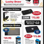 Kingston Wireless Storage Wi-Drive, MobileLite Wireless, MobileLite Wireless G2