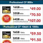 Lexar Professional CF CompactFlash, 800X, 1066X, 1000X, 16GB, 32GB, 64GB
