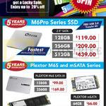 Plextor SSD M6Pro Series, Plextor M6S, MSATA Series, M2 64GB, 128GB, 256GB, 512GB